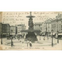 51 CHALONS-SUR-MARNE. Fontaine Place de la République 1916