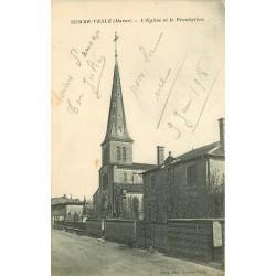 51 SOMME-VESLE. Eglise et Presbytère 1918