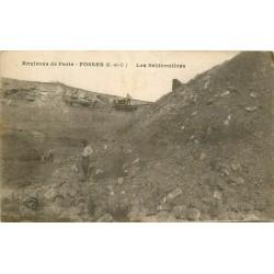 95 FOSSES. Les Sablonnières avec Ouvriers et vagonnet 1917