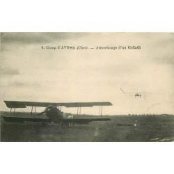 18 CAMP D'AVORD. Atterrissage d'un avion aéroplane Goliath 1931