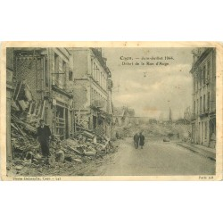 14 CAEN. Rue d'Auge bombardée en 1944