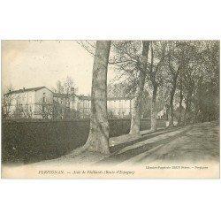 carte postale ancienne 66 PERPIGNAN. Asile de Vieillards Route d'Espagne 1905
