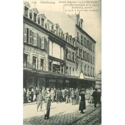 """50 CHERBOURG. Grands Magasins """" A la Frileuse """" rue Gambetta et des Portes"""
