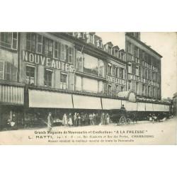 """50 CHERBOURG. Grands Magasins Confections """" A la Frileuse """" rue Gambetta et des Portes"""