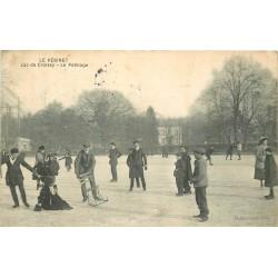 78 LE VESINET. Le Patinage sur le Lac de Croissy gelé 1912