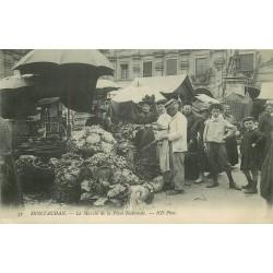 82 MONTAUBAN. Le Marché de la Place Nationale 1912