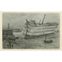 50 CHERBOURG. Le Borda Navire Ecole échoué