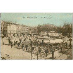 carte postale ancienne 66 PERPIGNAN. Café le Palmarium 1926