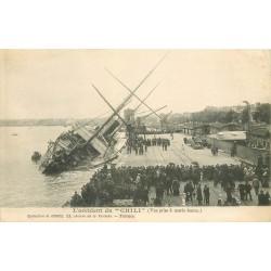 """33 BORDEAUX l'accident du navire """" CHILI """" vers 1900"""