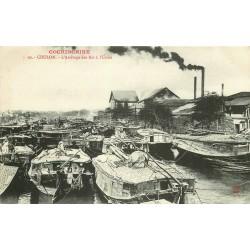 Viêt-Nam Cochinchine. CHOLON. L'Arrivage des Riz à l'Usine