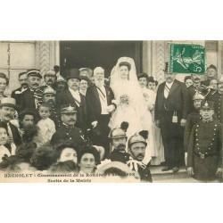 93 BAGNOLET. Couronnement de la Rosière en 1908 accompagnée du Maire sortant de la Mairie