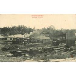 Cochinchine Viêt-Nam. GO-VAP la Gare avec trains et locomotives à vapeur vers 1900