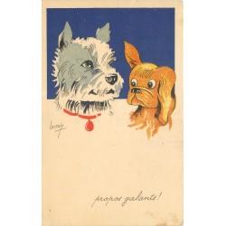 Illustrateur LACROIX. Propos galants entre deux chiens !...