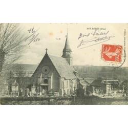 2 x cpa 60 ROY-BOISSY. Eglise et Cimetière 1910