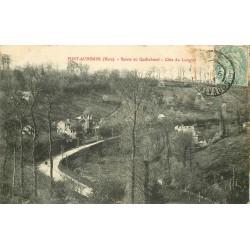 27 PONT-AUDEMER. Route de Quilleboeuf côte du Longval 1906