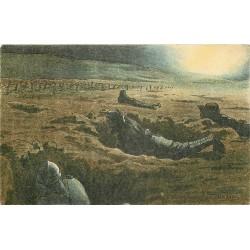 Illustrateur Gabard GUERRE 1914-18 militaires soldats poilus. La Patrouille