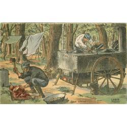 Illustrateur Gabard GUERRE 1914-18 militaires soldats poilus. Le Cuistot
