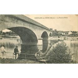 51 CONFLANS-SUR-SEINE. Pêcheurs sous le Pont 1918