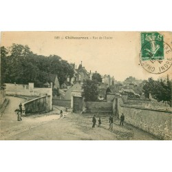 36 CHATEAUROUX. Les Bains du Paradis rue de l'Indre ou des Cordeliers 1916