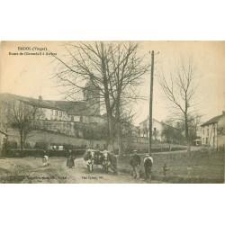88 HADOL. Attelage de Boeufs sur la Route de Géroménil à Arches 1917