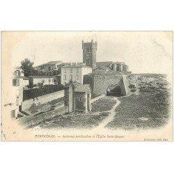 carte postale ancienne 66 PERPIGNAN. Fortifications et Eglise Sainy-Jacques 1905