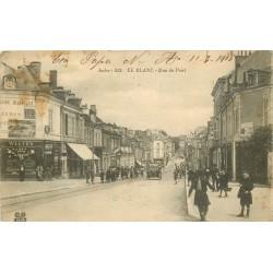 36 LE BLANC. Voiture ancienne devant le magasin de cycles Walter rrue du Pont 1915