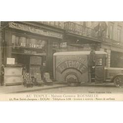 """59 DOUAI. Maison Rousselle meubles literies """" Au Temple """" 42 rue Saint-Jacques"""