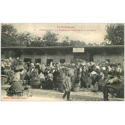 carte postale ancienne 66 PERPIGNAN. Le Marché aux Primeurs 1916 grosse animation