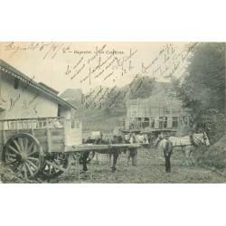 93 BAGNOLET. Attelages dans les anciennes Carrières à plâtre 1904