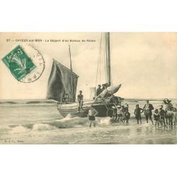 80 CAYEUX-SUR-MER. Le Départ d'un Bateau de Pêche 1908