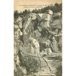 88 SAULXURES-SUR-MOSELOTTE. Ouvrier sur la Carrière de Granit en exploitation 1918