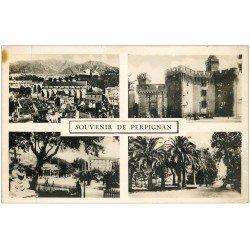 carte postale ancienne 66 PERPIGNAN. Multivues carte photo