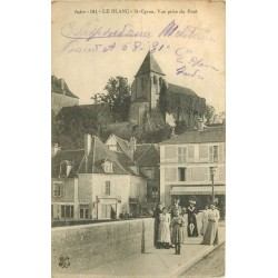 36 LE BLANC. Saint-Cyran le Pont 1915 Tabac et Café de la Civette
