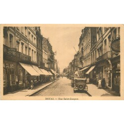 59 DOUAI. Rue Saint-Jacques voitures anciennes