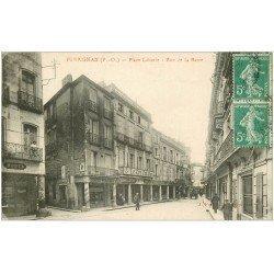 carte postale ancienne 66 PERPIGNAN. Place Laborie Rue de la Barre. Commerce le Cri Catalan vers 1913
