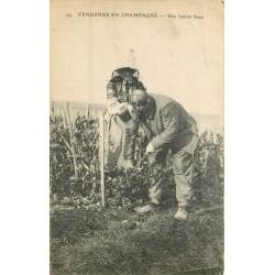 Alsace. VENDANGE EN CHAMPAGNE. Une bonne farce dans les vignes 1917