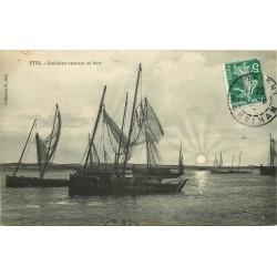 56 ETEL. Sardiniers rentrant au Port 1908