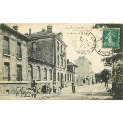93 AULNAY-SOUS-BOIS. Mairie et Ecoles avenue de la République 1915