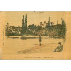 70 VILLERSEXEL. Ruines du Château après le 9 Janvier 1871