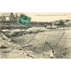 17 ROYAN. Pêche au Carrelet Plage du Pigeonnier 1910