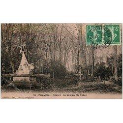 carte postale ancienne 66 PERPIGNAN. Square 1915. La Musique de Sudre. Entame pli