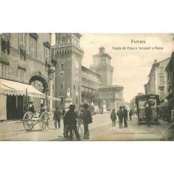 FERRARA. Angolo Palazzo Comunale e Piazza 1911 Tramway hippomobile