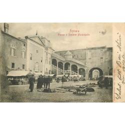 FERRARA. Mercato Piazza e Scalone Municipale 1904