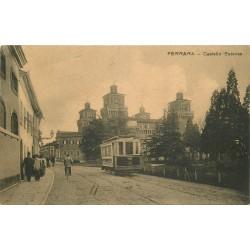 FERRARA. Castello Estense avec Tramway électrique 1911