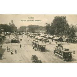 TORINO. Piazza Emanuele Filiberto tram 1907