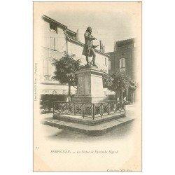 carte postale ancienne 66 PERPIGNAN. Statue de Hyacinthe Rigaud 1905