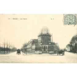 59 DOUAI. Attelages devant les Bains 1906