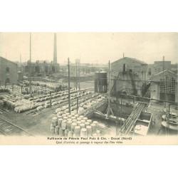 59 DOUAI. Raffinerie Pétrole Paul Paix Quai arrivée et passage à vapeur des fûts vides