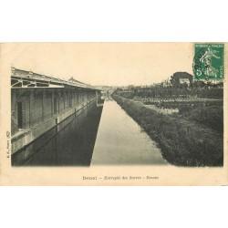 59 DOUAI. Bassin Entrepôt des Sucres 1908 timbre taxe