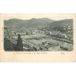 1900 TOP RARE 06 NICE. Port et Observatoire oblitérée en 1900